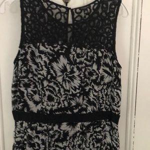 Artisan quality Ann Taylor floral event dress